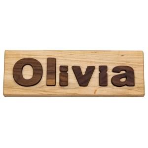 """Hardwood """"Olivia"""" Puzzle"""