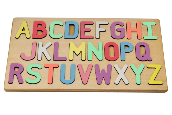Alphabet Puzzle with a Pastel Letter Mix