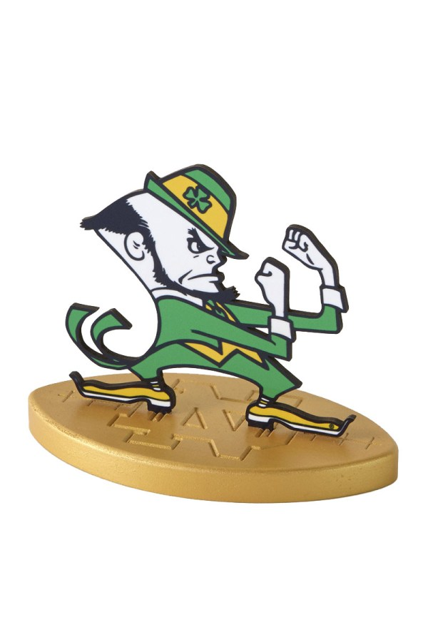 Notre Dame Leprechaun Logo Stand