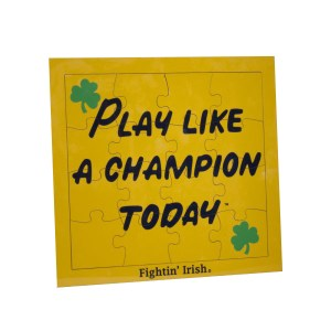 Notre Dame Play Like A Champion Today Jigsaw Puzzle