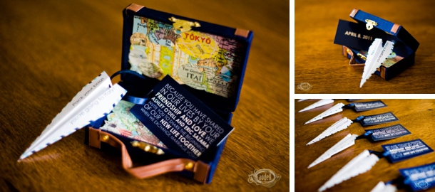 Vintage Travel Wedding Invitation By Blacklabstudio Left Map Save The Date Card Drafteleven Right