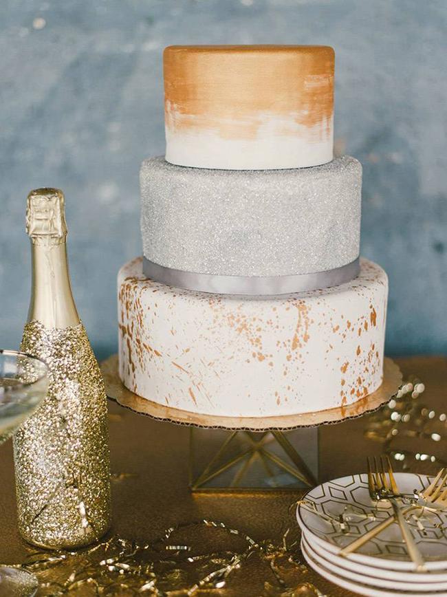 20 Metallic Wedding Cakes SouthBound Bride