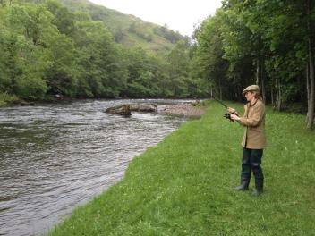 First salmon about to be taken from Gate Pool