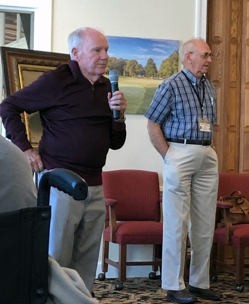 Guest speaker Dick Nippes, left, told us about new additions to the historic complex in Ocean View.