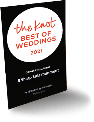 B-Sharp Entertainment is awarded 2021's Best Of Weddings by TheKnot.com