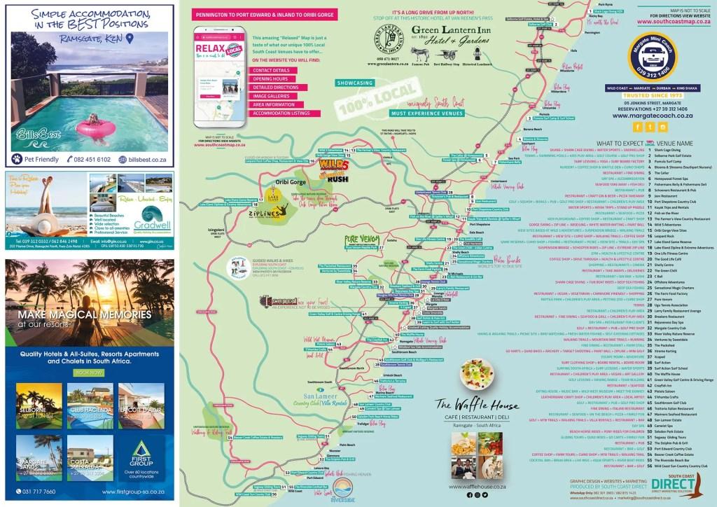 South Coast Map KZN