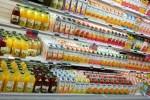 orange juice on grocery shelf
