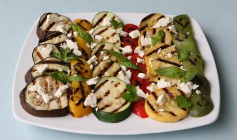 Char-Grilled Florida Vegetables with Feta