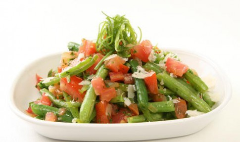 Snap Bean and Tomato Sauté