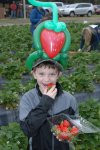Kids of all ages enjoyed the strawberry-filled event