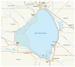map-of-lake-okeechobee-in-the-us-state-of-florida