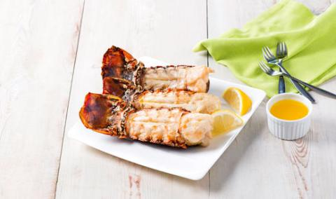 Sweet Cream Butter Broiled Florida Spiny Lobster Tails
