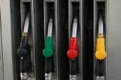 Color full gasoline pump guns at petrol station