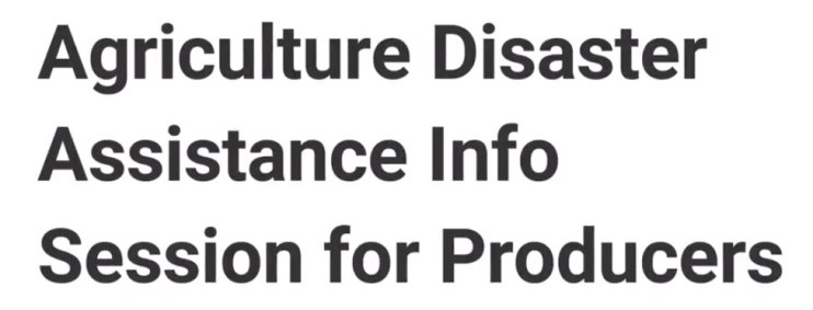 agriculture disaster assistance