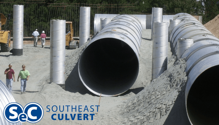 Large Diameter Corrugated Metal Pipe Underground Detention
