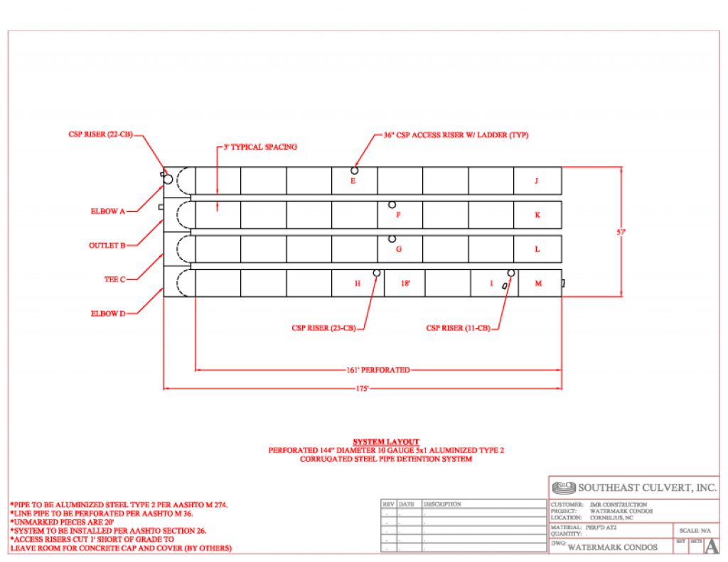 144 Inch Detention System Layout Drawing