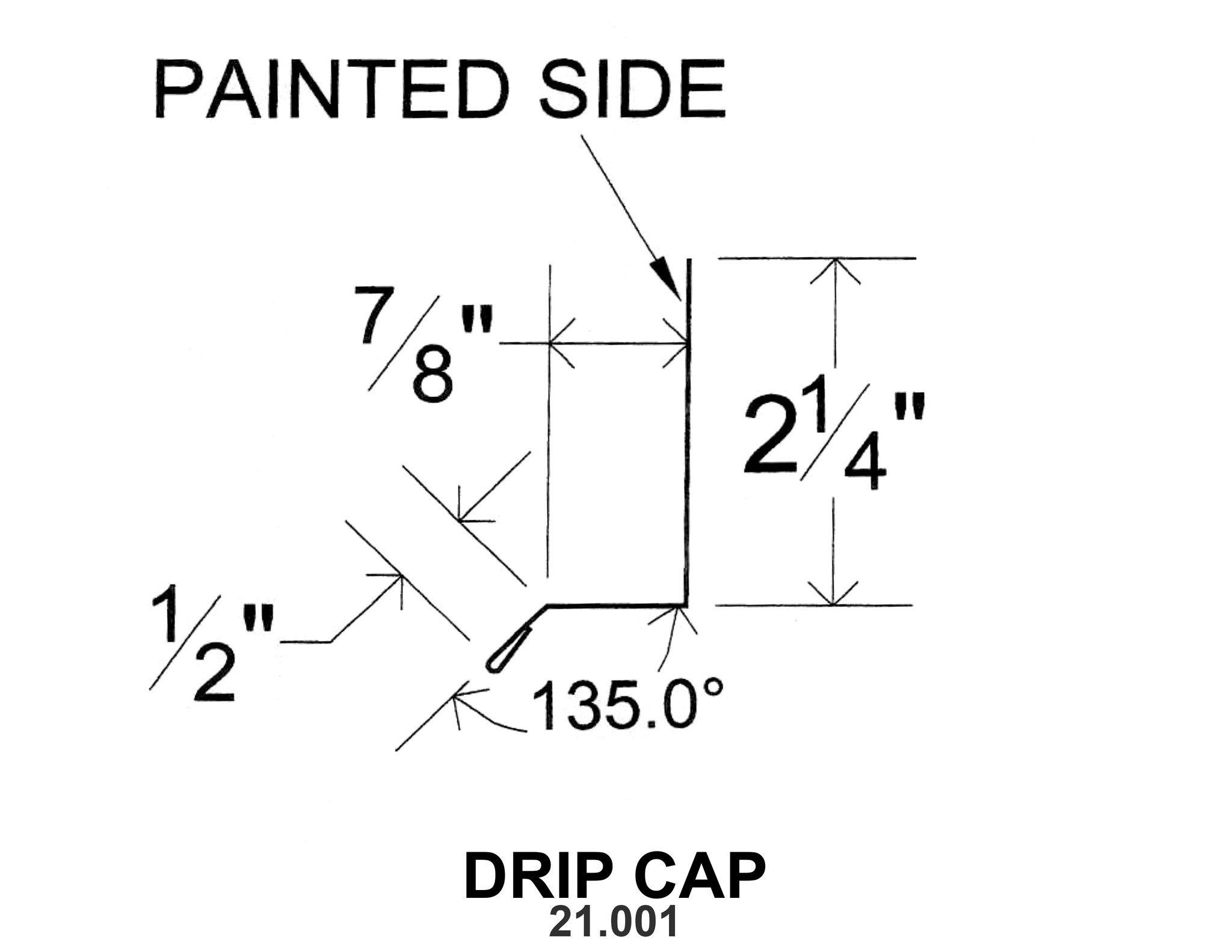 Drip Cap 21 001 10 Ft