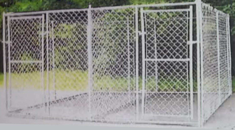 10x10x6 Double Door Dog Kennel 12 5 Gauge