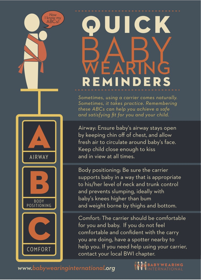 Carrying Safely - Quick Baby Wearing Reminders