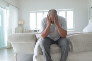 Man struggling with ED