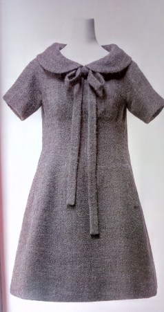 Yves Saint Laurent/ Christian Dior 'Trapeze' Line Wool tweed dress 1958. Image copyright Kyoto Costume Institute