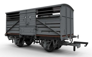 The later diagram 1530 cattle truck, note the steel ends. Picture courtesy Hornby