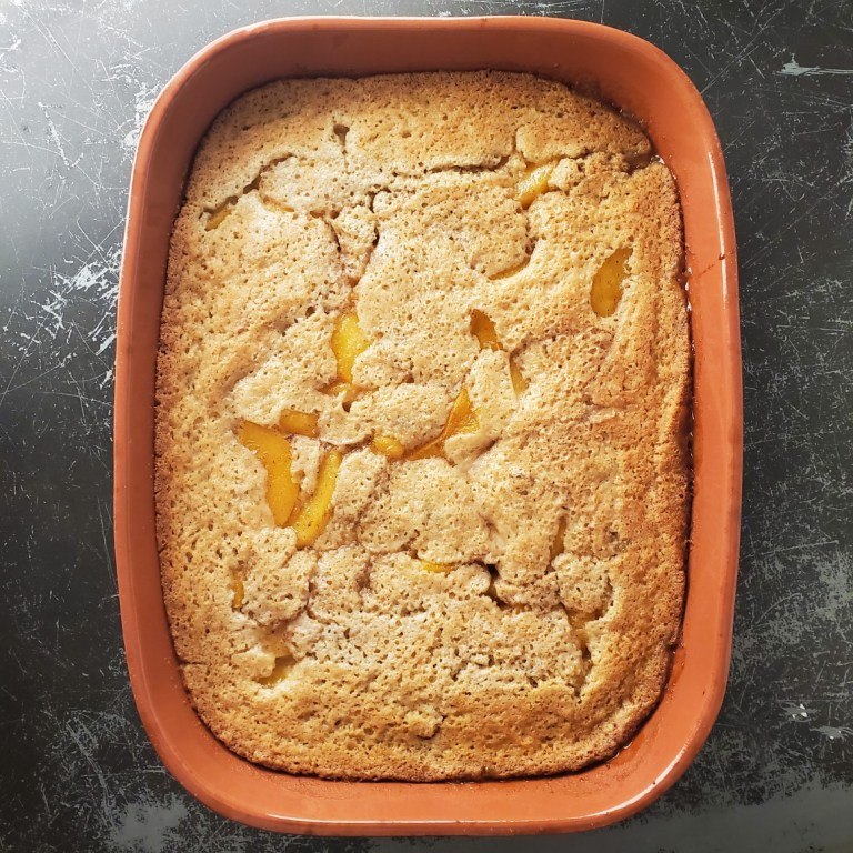 Easy Southern Peach Cobbler | Use Fresh or Canned Peaches!