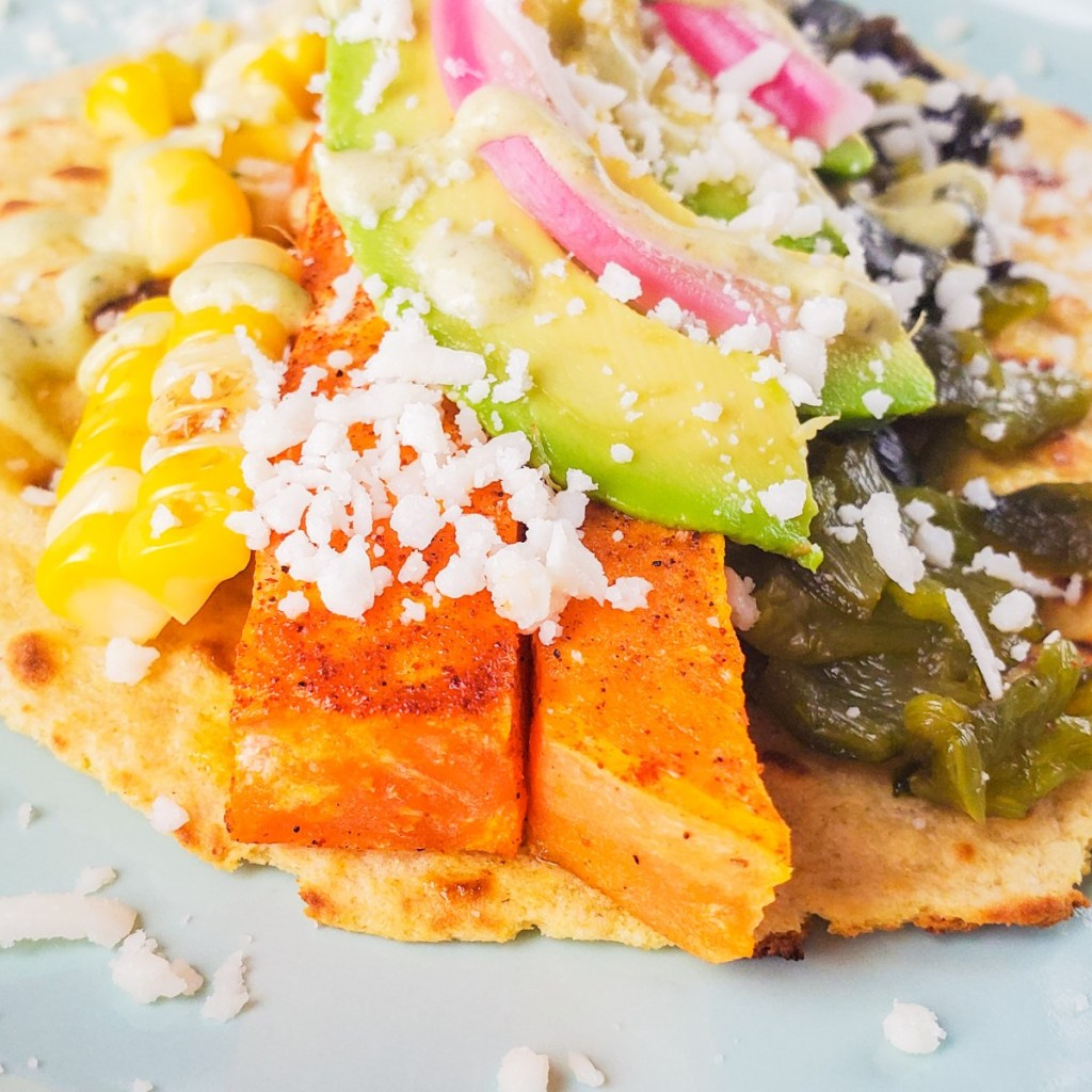 Sweet Potato Taco Closeup