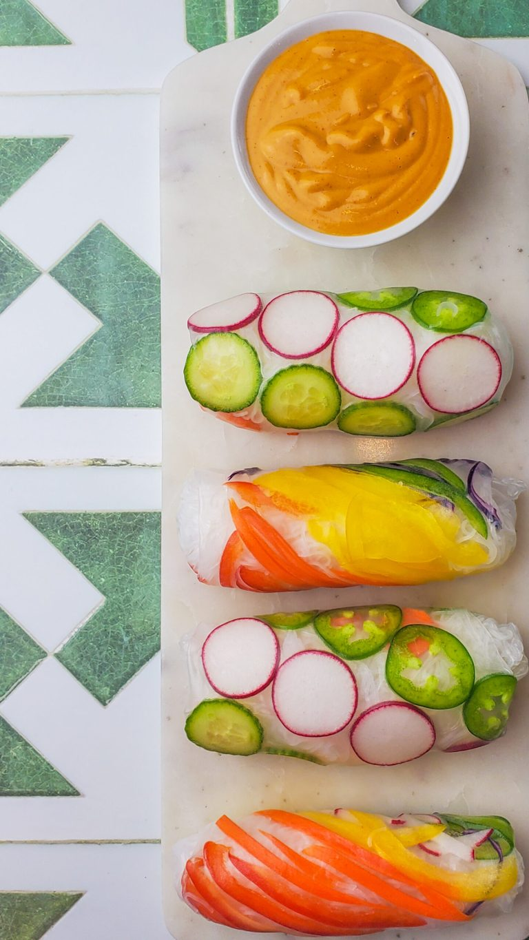 Easy Rainbow Summer Rolls