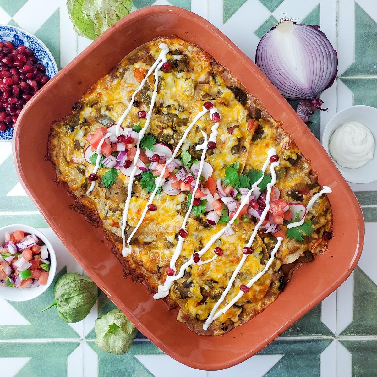 Hatch Chile Enchiladas