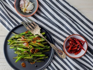 Chili Garlic Green Beans Feature Image