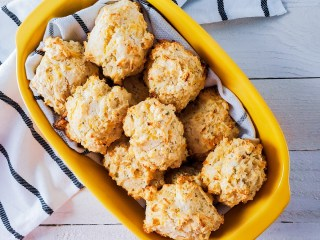 Easy Cheese and Chive Drop Biscuits Feature Image