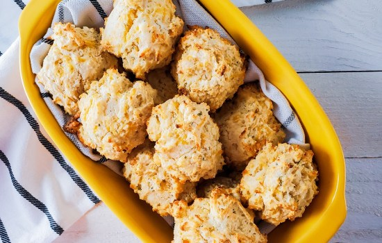 Easy Cheese and Chive Drop Biscuits
