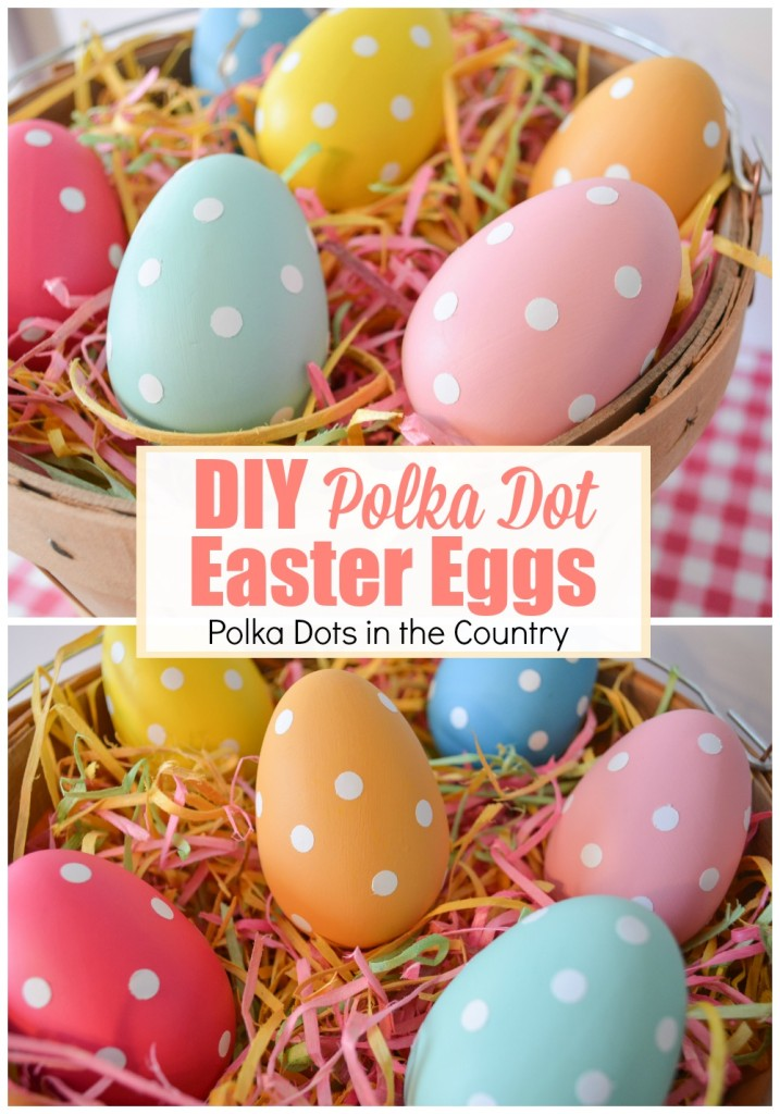 diy polka dot easter eggs collage 3
