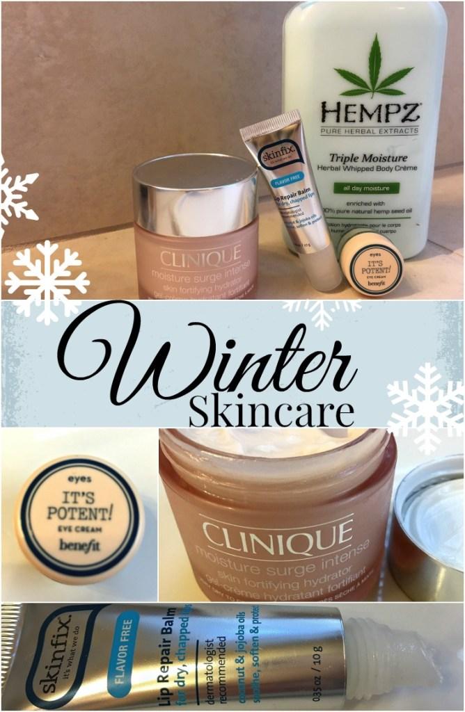 Winter Skincare Collage