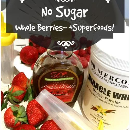 Energy Berry Popsicles (By WhippedGreenGirl.com) NO SUGAR, +SUPERFOODS, a great solution for #breakfast or a #healthy snack