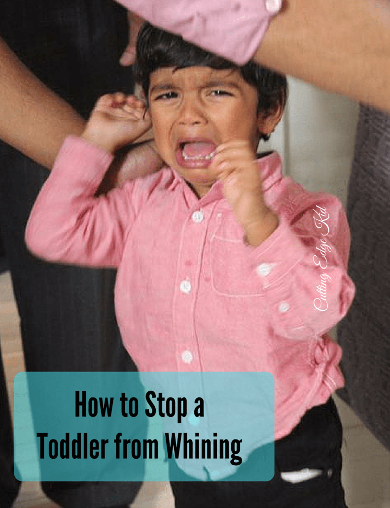 How to Stop a Toddler from Whining