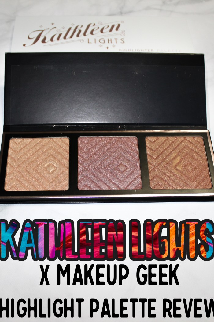 New Kathleen Lights x Makeup Geek beautiful Highlighter palette: Review & Swatches! Is it worth it?