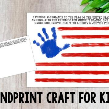 Flag Handprint Craft