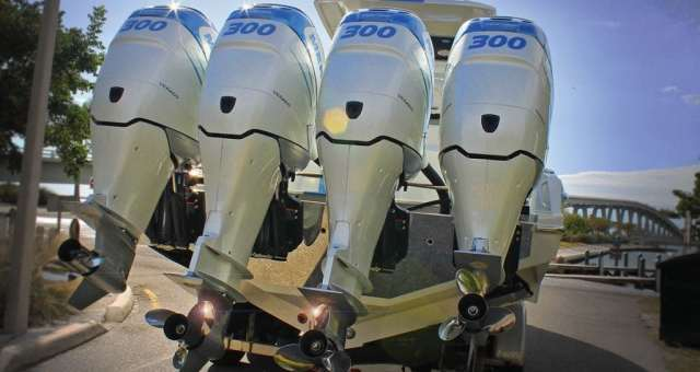 an image of dunked outboard