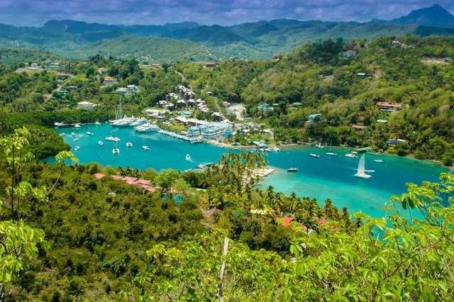 An image of The Marina at Marigot Bay