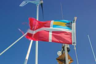 Bahamian courtesy flag. Photo: Stephen Connett