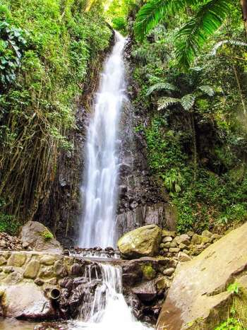 Dark View Falls on St. Vincent offer a great gateway to the Grenedines. PHOTO: St. Vincent and The Grenadines Tourism Authority.