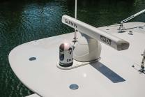 Garmin electronics package provides premium GPS and radar capabilities. Photo: Bahama Boat Works.com