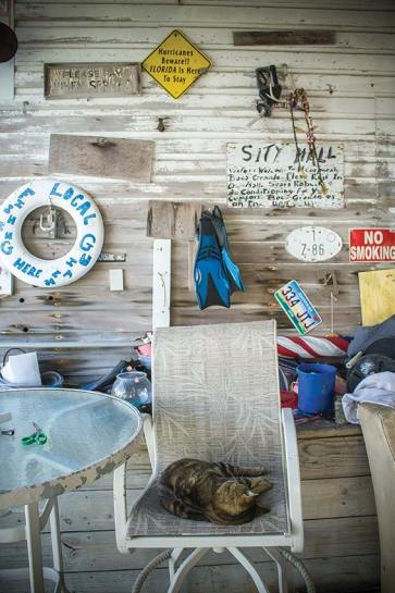 "Paraphernalia outside Whiddon's Marina hints at more ""treasure"" inside their Maritime Museum. Photo by Liz Pasch"
