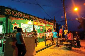 Rum shop. These local taverns are the heart of every village.