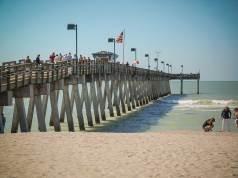 Venice, Florida: Pier at Sharky's on Caspersen Beach, Vienice, Florida
