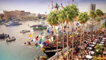 A waterfront view of the Tampa Flotilla