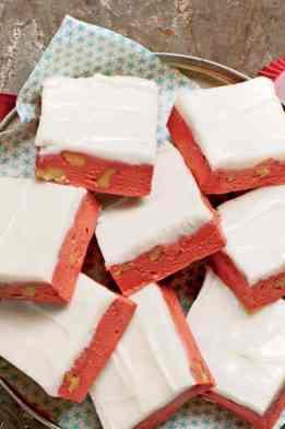 Red Velvet Christmas Fudge