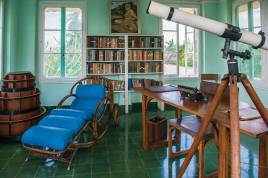 Inside Hemingway's studio at Finca Vigia on the outskirts of Havana